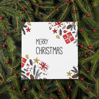 Quadratisches weihnachtskartenmodell