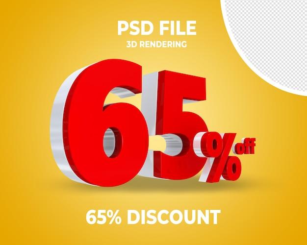 Rabatt rotes 3d-rendering