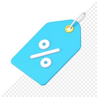 Rabatt-tag 3d-symbol