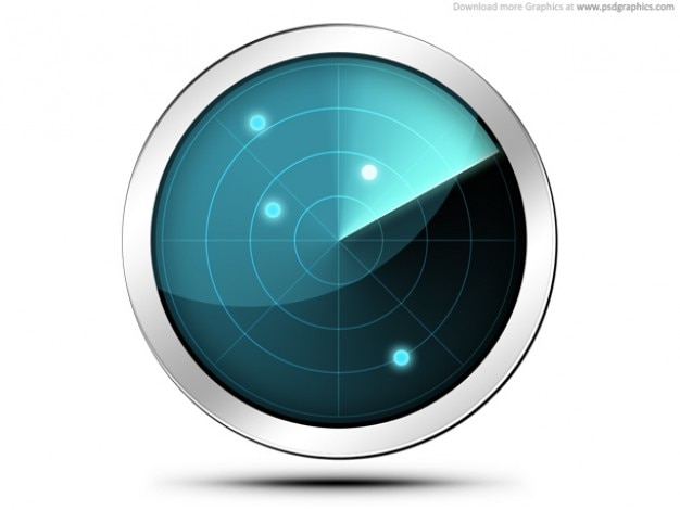 Radar-bildschirm-symbol (psd)
