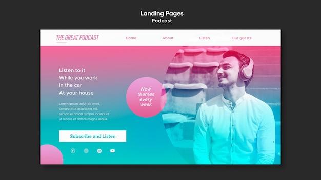 Radio podcast landing page vorlage