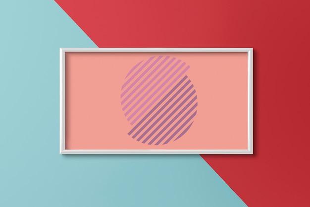 Rahmen an einer zweifarbigen wand