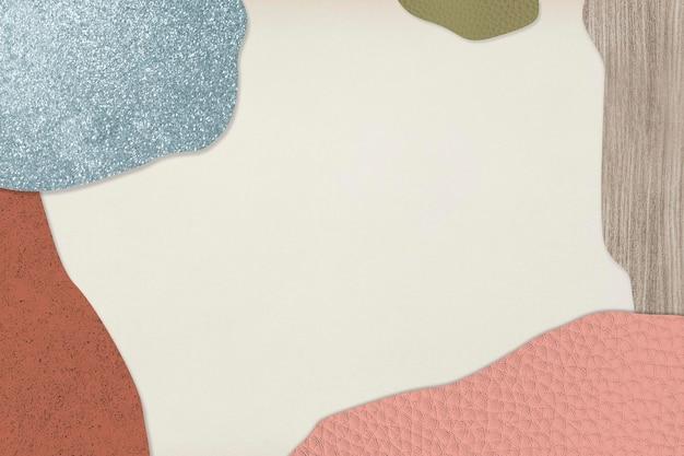 Rahmen auf strukturierter hintergrundillustration der rosa und blauen collage