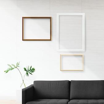 Rahmen in einem wohnzimmer