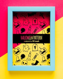 Rahmen mit halloween-element-konzept