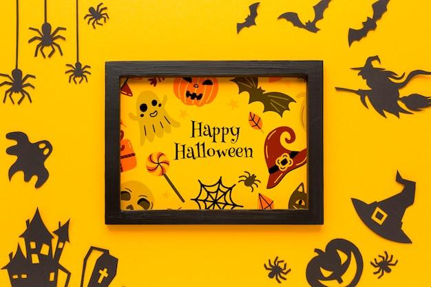 Rahmen mit halloween-zeichnung