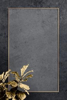 Rahmen verziert mit einer geigenblatt-feigenpflanze