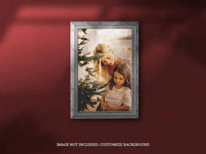 rahmenbild der klassischen galerie der weihnachtsfeier mit schlagschatten