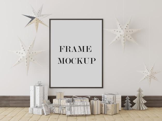 Rahmenmodell für weihnachten oder neujahr für ihr design