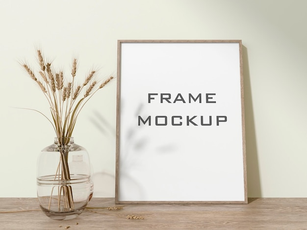 Rahmenmodell im wohnzimmer premium psd