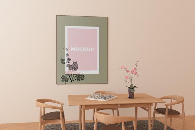 Rahmenmodell im wohnzimmer