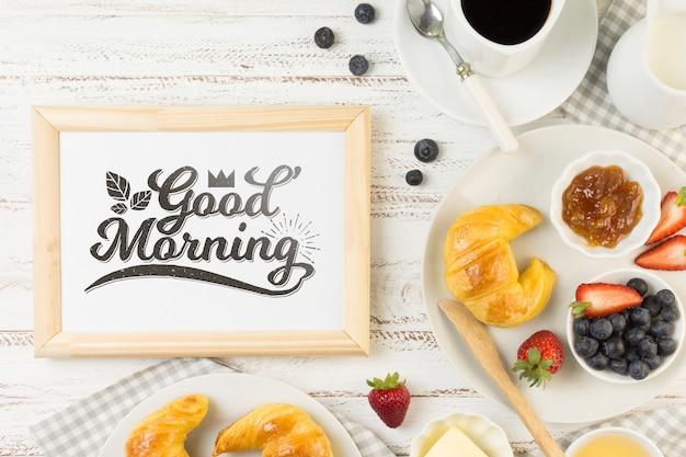 Rahmenmodell mit frühstückskonzept