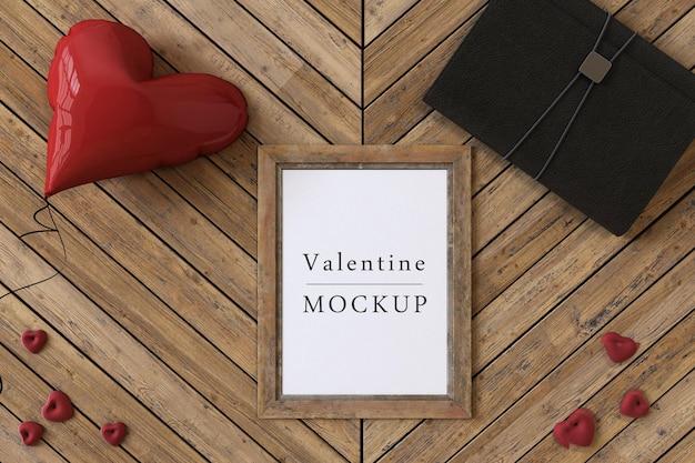 Rahmenmodell mit valentinskonzept