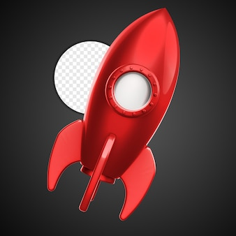 Rakete 3d isoliert