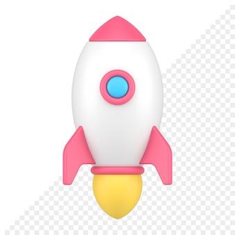 Rakete 3d-symbol