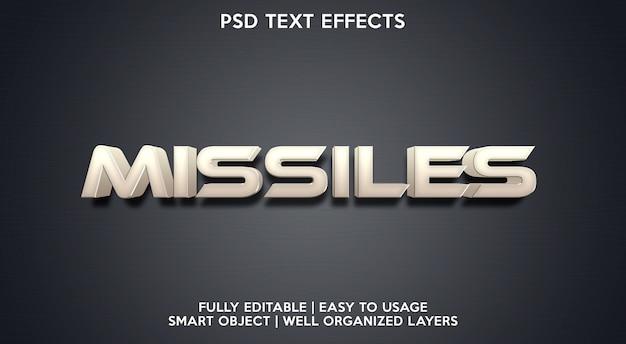 Raketen-texteffektvorlage