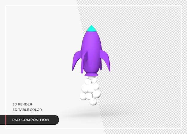 Raketensymbol 3d-rendering