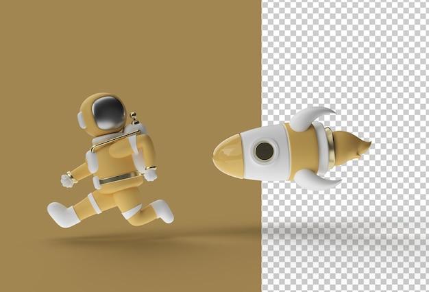 Raketenziel für astronauten-marketing-poster transparente psd-datei.