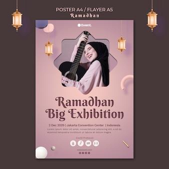 Ramadan event flyer vorlage mit foto Kostenlosen PSD