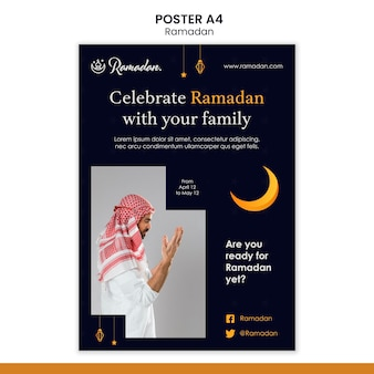 Ramadan event flyer vorlage