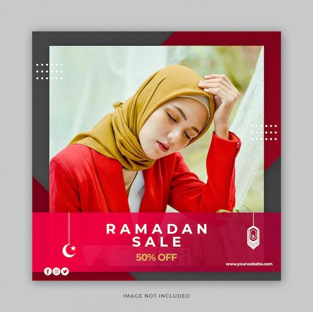 Ramadan fashion sale promotion banner vorlage für social media post