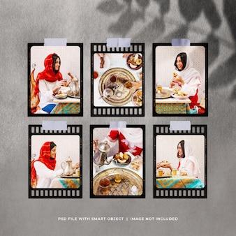 Ramadan fotorahmen moodboard mockup