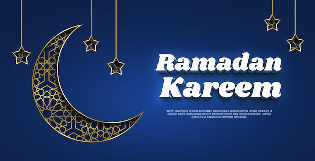 Ramadan kareem 3d-textstil-effektvorlage