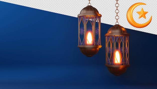 Ramadan kareem design in 3d-rendering