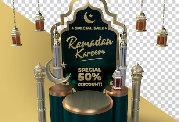 Ramadan kareem eid mubarak 3d islamisches festdesign
