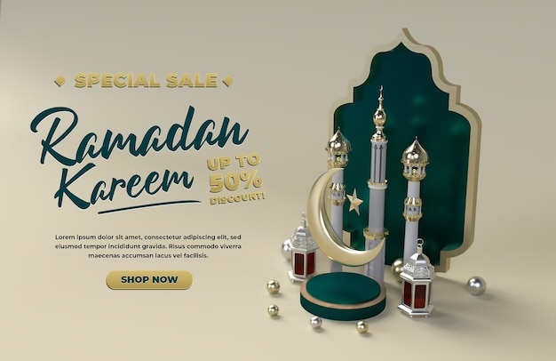 Ramadan kareem glücklich eid mubarak islamische feier vorlage