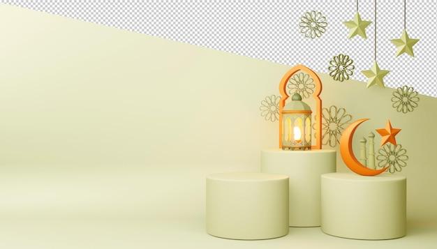 Ramadan kareem hintergrund, 3d-rendering.