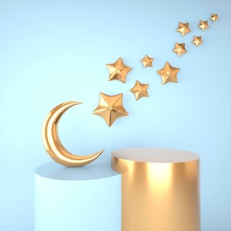 Ramadan kareem-konzept im 3d-rendering