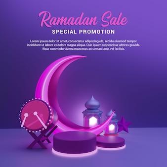 Ramadan sale islamic ceremonial 3d render