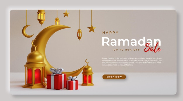 Ramadan verkauf banner design ps