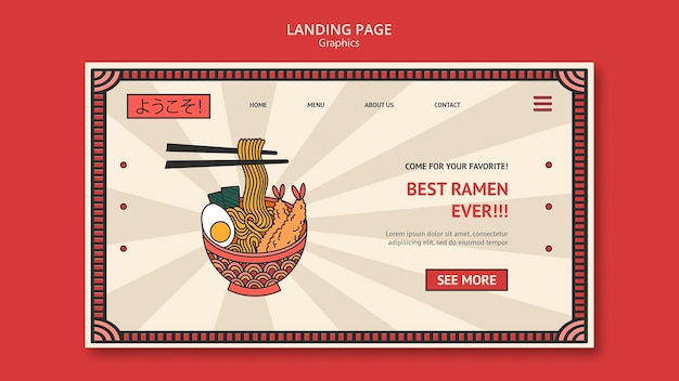 Ramen-grafik-webvorlage