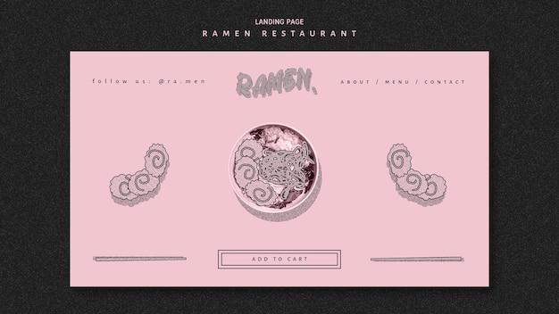 Ramen nudel restaurant banner