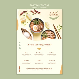 Ramen restaurant poster vorlage