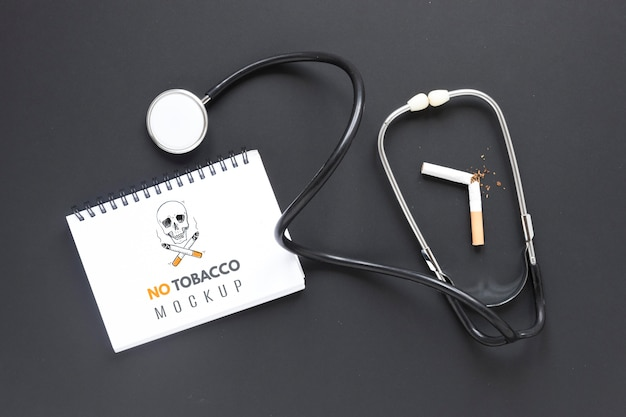 Raucherentwöhnungskonzept mit stethoskop
