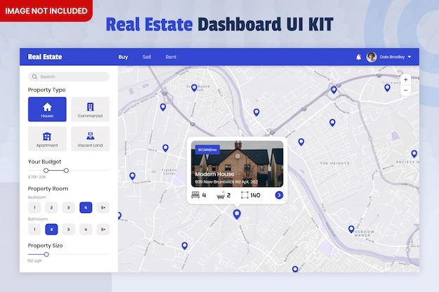 Real estate finder dashboard ui kit