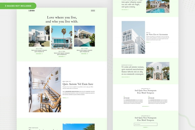 Real estate website page design