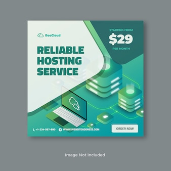 Realisierbares hosting-server-banner