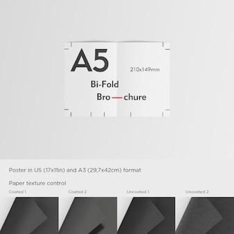Realistische a5 flyer-präsentation
