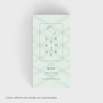 Realistische box präsentation