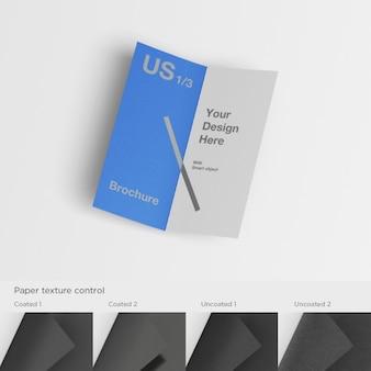 Realistische broschüre mock-up
