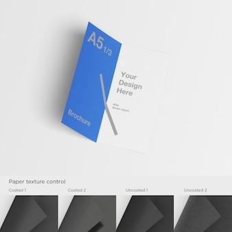 Realistische broschüre präsentation