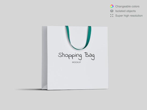 Realistische einkaufspapiertüte modellvorlage
