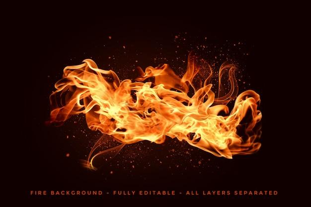 Realistische feuerflammen