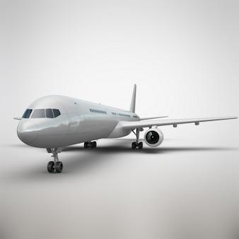 Realistische flugzeug präsentation