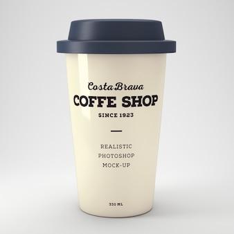 Realistische kaffeetasse mockup