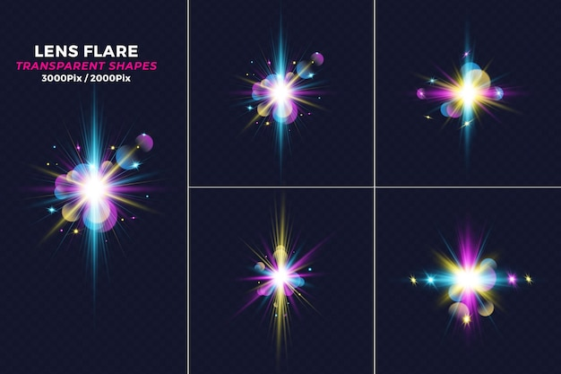 Realistische kräfte crash light lens flare-effekt